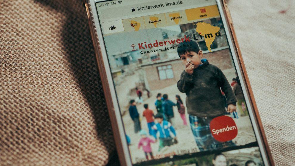 Spende an das Kinderhilfswerk Lima